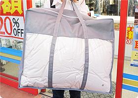 クローゼットにそのまま収納できる高級な不織布バックに包装