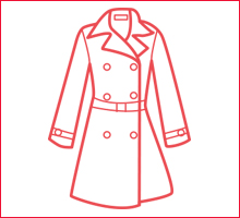 コート、セーターなど、年1回衣替えのしまい洗いに!